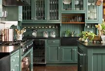 Kitchens in green