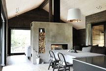 Fireplace concrete