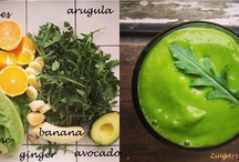 Green Goodness / Throw some greens, fruit and sometimes nuts and seeds and blend your way to health and amazing energy! :)