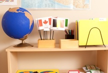 Homeschool Spaces / Ideas and tips for creating homeschool spaces that will support Montessori learning and nurture your child in their journey towards becoming a caring, responsible, and intelligent citizen of the Earth.