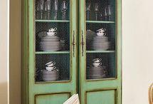 Dish cabinet ideas/color paint