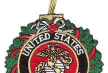 Marine Corps Christmas Gifts Ornaments Stockings / Marines USMC Christmas Ornaments, Gifts, Decorating and Design Ideas.  More choices at http://www.priorservice.com/marine-corps-christmas.html / by PriorService.com