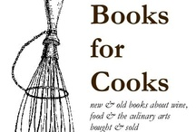 Books for Cooks / our little shop - with books to the ceiling and in most nooks & crannies - it's not all ways this neat - and usually there's more books everywhere