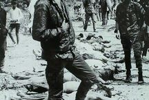 Long night saved to Great History Highlight  U.S. soldier posing with Viet Cong bodies during the Tet offensive. January 1968