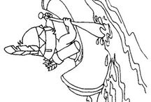 INDIANS COLORING BOOK / INDIANS COLORING pages