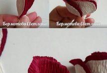 fiori con carta crespa