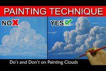pintando nubes...