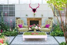Fresh and pretty gardens / I love a 'girlie' garden, filled with flowers, pink and fabrics. Don't you?