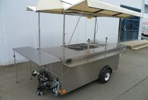 Custom Built Street Food Crepe Cart for Nestle Foods / All Apollo Carts are custom built and have mechanical refrigeration and pressurized hot and cold water with on-board water storage.
