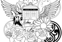 Colouring pages Dr. Who