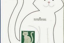 gato em tela