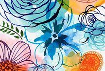 цветочная акварелька