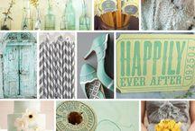 Seafoam, Sunshine + Ash / Mint, yellow, and gray wedding inspiration
