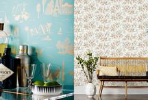 """Wallpaper / If my walls could talk they would scream, """"Cover me!"""" I love a bold wallpaper with my favorite Jewel tone colors. Kelly green, navy blue, magenta...it can make a room feel like living on the inside of a jewelry box!"""