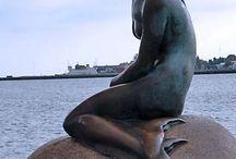 mermaids' statues