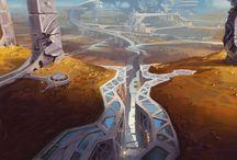Surreal fantasy landscapes / Landscape art