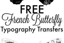 Typography transfers