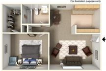 Apartment Home Floorplans / Spacious apartments you will fall in love with.
