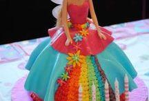 Rainbow Barbie party