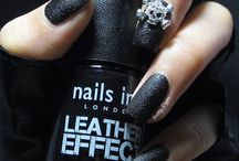 Nail art / Leather look