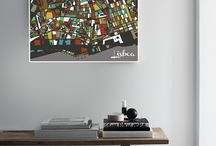 Portugal (mosaic maps) / Handmade city maps. Want a map we don't have yet? Contact us!
