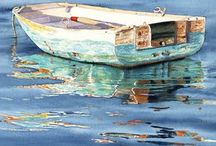 Boats Painting
