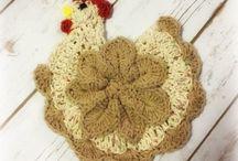 Crochet Potholder Trivet