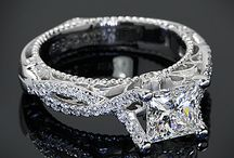 "Princess Perfect Diamond Delights / Princess Cut Diamonds feature a straight sided rectangular outline with a brilliant style facet arrangement.  It is a hybrid of shape and cutting style that produces more sparkle than traditional square or rectangular diamonds.  Princess cuts are more popular today than any other ""fancy shape"" diamond. http://bit.ly/1ca0E3d / by Whiteflash Diamonds"