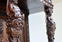 furniture - details I / převážně 3D řezba