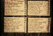 My Poetry/Scribblings / various words. thoughts, lyrics...