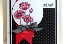 Stampin up pleasant poppies / Examples of projects using Pleasant Poppies from Stampin up Www.margaretjones.net