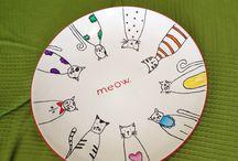 Meow / Ceramic painting