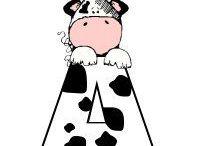 ABC VACAS / Abecedario y Números de Vacas