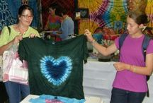 Tie Dyed Hearts / Pictures of tie dyed hearts made by me and my students.