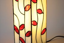 Tiffany zelf gemaakte lamp / Tiffany lamp stained glass