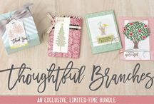 Thoughtful Branches Stampin' Up! / Projects made with Thoughtful Branches from Stampin' Up!, a limited time stamp set available during August 2016