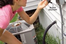 Air conditioning unit cleaning