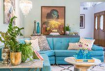The Jones Fix Portfolio / Chicago Home Stylist portfolio of work. Boho, Mid Century, Vintage, Global home decor.