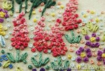 hand embroidery / fashion n flower