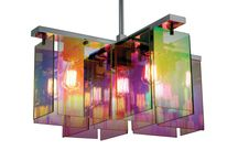 Bursts of color / Illuminate your space with prismatic hued light fixtures