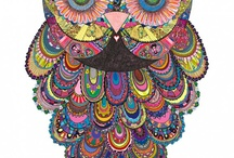 Owl Art / Different media using beautiful owls  / by Bonnie Bryant