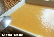 Cremas, purés y sopas