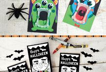 Non Candy Halloween Ideas / Non Candy Halloween treat ideas with printables from Kudzu Monster. I got several of these toys from the Dollar Tree! This is a great way to be friendly to kids with food allergies, diabetes, and other restrictive diets on Halloween. Pair them with the perfect printable for an extra special goodie. Happy Haunting! KudzuMonster.etsy.com