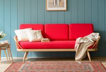 Wall colours to go with a red lounge suite