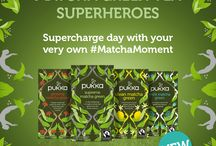 Matcha Green Tea / Say hello to our NEW Matcha Green tea superheroes  Harnessing the incredible power of Matcha and the goodness of organic herbs, to create a range of teas to help save the day.
