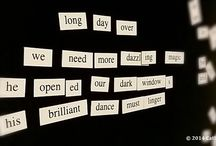 Frig Poems / Because you can only do so much with a magnet set and a black refrigerator. / by Cathy Dee