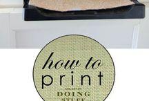 Imprimés et lettrages