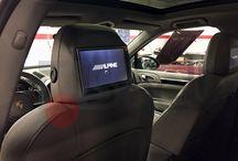 Porsche Cayenne Alpine / Installazione monitor Alpine nei poggiatesta di una Porsche Cayenne E2