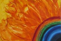 Encaustic Art 2 / Schilderijen gemaakt op canvas met een warmtebron en was