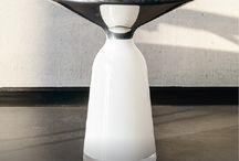 """Bell Side Table. Das Haus 2016 Edition. / DER BELL SIDE TABLE.  Der Bell Table von ClassiCon ist die Verkörperung von zeitgemäßer Eleganz und wurde in den letzten Jahren der erfolgreichste Entwurf von Sebastian Herkners. Diese außergewöhnliche Kreation verschaffte seinem Designer in nur kurzer Zeit einen hohen Bekanntheitsgrad in der internationalen Designszene. Für seine Installation """"Das Haus"""" zur imm cologne 2016 legten der Designer und ClassiCon eine zeitlich streng limitierte Edition des Tisches auf."""